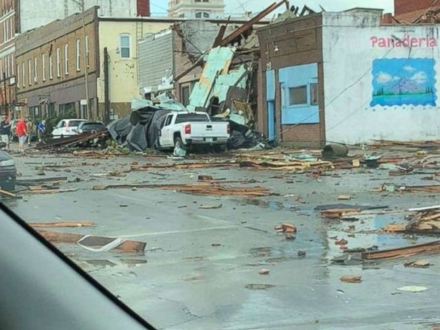PHOTO: Destruction from a tornado in Marshalltown, Iowa, July 19, 2018.