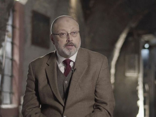 PHOTO: In this image made from a March 2018 video provided by Metafora Production, Jamal Khashoggi speaks during an interview at an undisclosed location.