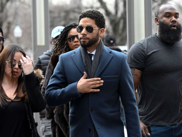 PHOTO: Jussie Smollett, the Empire actor, comes to Leighton Criminal Court Building for his hearing in Chicago, March 14, 2019.