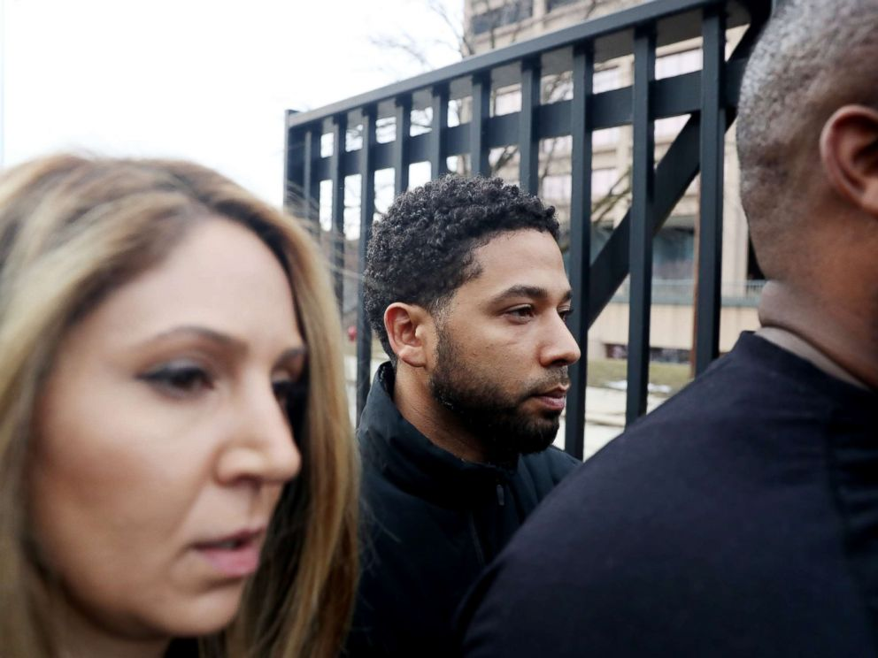 PHOTO: Empire actor Jussie Smollett leaves the Cook County Jail in Chicago, Feb. 21, 2019.