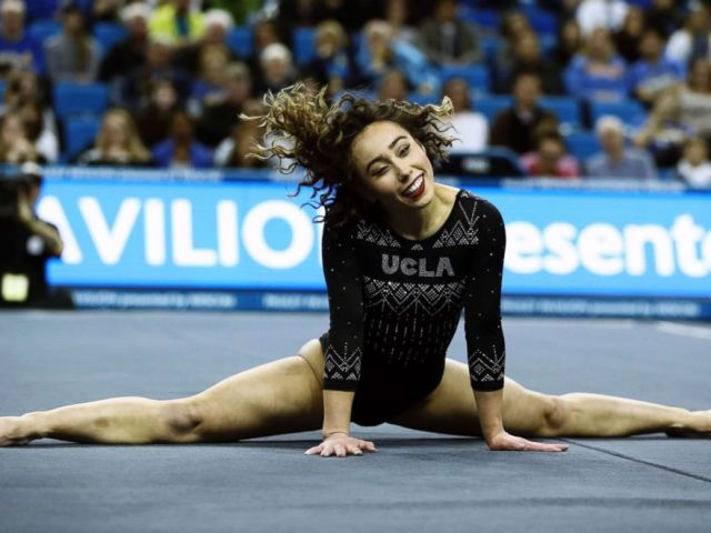 PHOTO: Katelyn Ohashi during an NCAA college gymnastics match, Friday, Jan. 4, 2019, in Los Angeles.