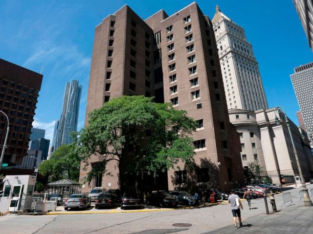 PHOTO: This file photo taken on Saturday, Aug. 10, 2019, shows the Metropolitan Correctional Center where financier Jeffrey Epstein was being held before his alleged suicide.