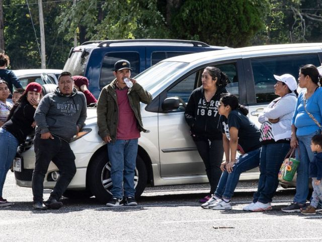 PHOTO: Family members of missing 5-year old Dulce Maria Alavez, wait for news at the Bridgeton City Park where she was last seen in Bridgeton, N.J., September 18, 2019.