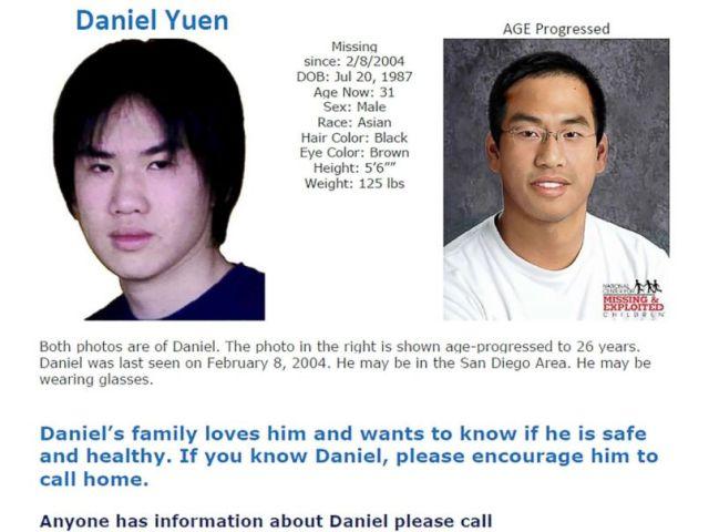 PHOTO: Poster seeking information on Daniel Yuen