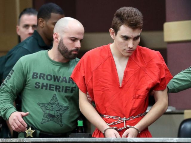 PHOTO: Nikolas Cruz is escorted into the courtroom for his arraignment at the Broward County Courthouse March 14, 2018 in in Fort Lauderdale, Fla.