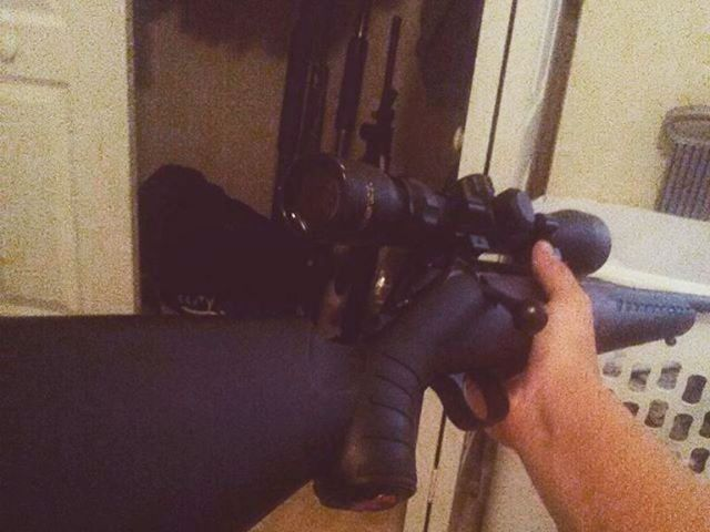 PHOTO: This photo posted on the Instagram account of Nikolas Cruz shows a hand holding a weapon.