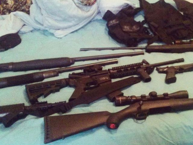 PHOTO: This photo posted to Nikolas Cruzs Instagram account shows weapons lying on a bed.