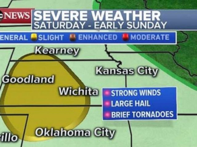 PHOTO: Severe weather is possible in Kansas and Oklahoma on Saturday and early Sunday.