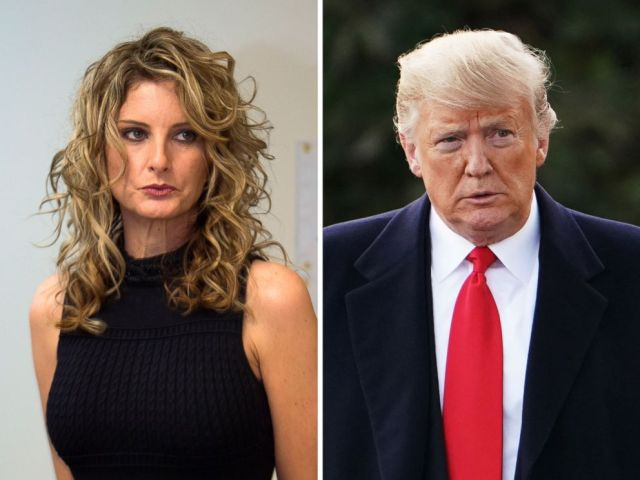 PHOTO: Summer Zervos is pictured at a press conference in Los Angeles on Jan. 17, 2017, and President Donald Trump walks on the South Lawn of the White House in Washington, Oct. 31, 2018.