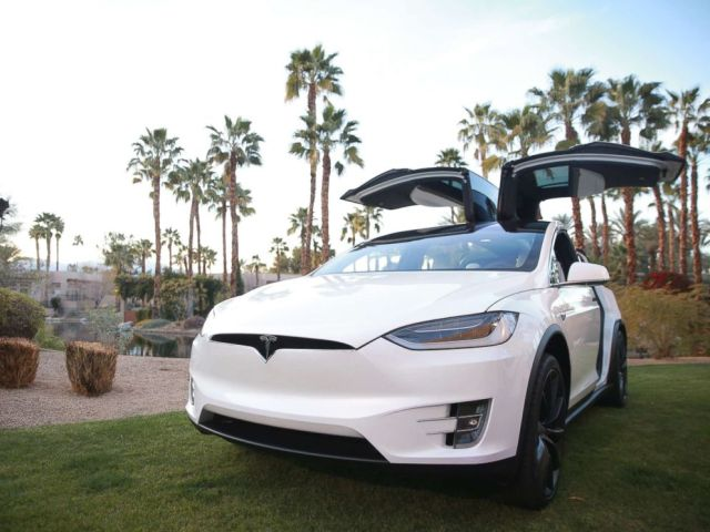 PHOTO: A Tesla Model X is displayed at some level of the Citi Style of Tennis at Hyatt Regency Indian Wells Resort & Spa on March 5, 2018 in Indian Wells, Calif.