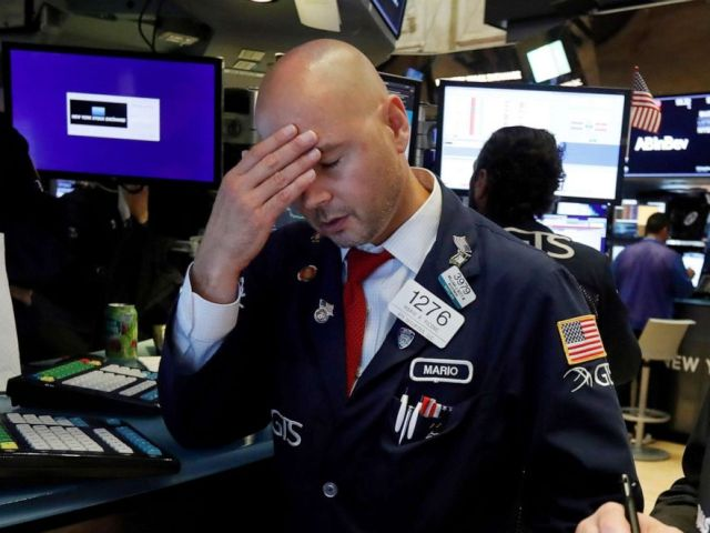 PHOTO: Specialist Mario Picone works on the floor of the New York Stock Exchange, Aug. 14, 2019.