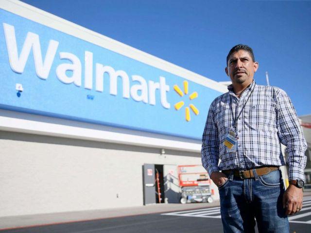 PHOTO: Walmart manager Robert Evans stands in front of a Walmart store in El Paso, Texas, Nov. 13, 2019.