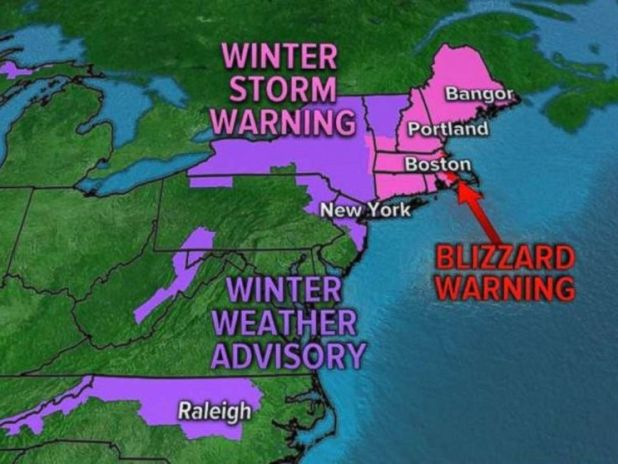 Three states are facing a blizzard warning this morning.