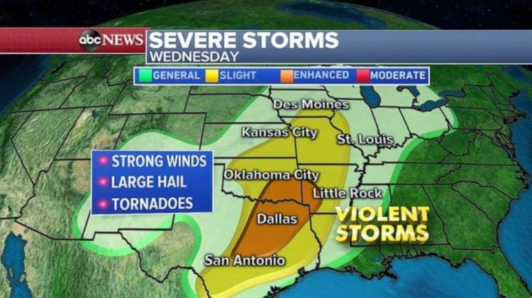Another severe storm takes aim at the South by midweek.