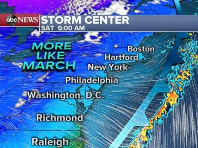 PHOTO: It should finally feel like March along the East Coast.