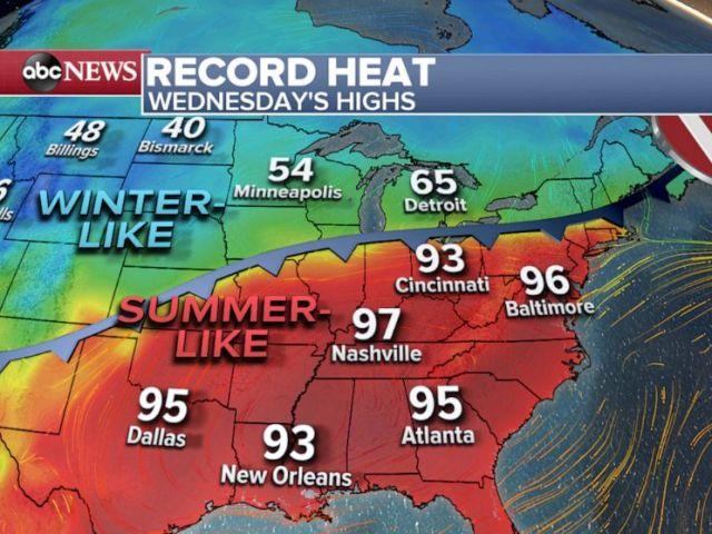 PHOTO: Record Heat - Wednesday Highs