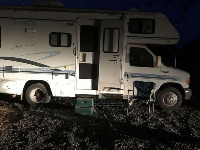 PHOTO: Jaya Mae Gregory, whose home in Magalia was destroyed, and her family drove across 25 states in their RV trying to find a place to live.