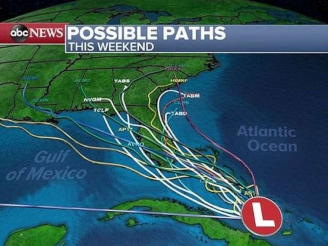 PHOTO: Possible paths are seen.