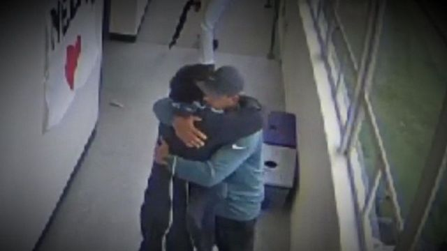 VIDEO: Football coach hugged student after disarming him with loaded gun