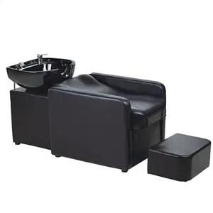 salon shampoo sink with fiberglass base and ceramic wash bowl bx 6103