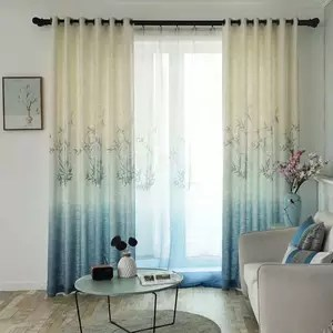 2018 new design fashionable window curtains panel for living room