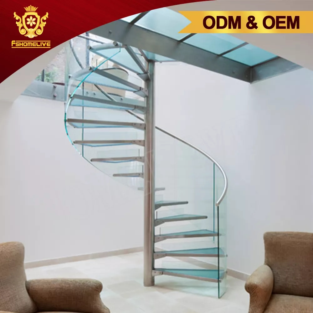 Custom Made Design Inside Home Used Metal Glass Round Shaped | Stairs Design Inside Home | Traditional | Iron | Amazing | Outside | Short