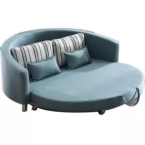 hotel bedroom furniture round curve sofa bed luxury appearance dubai used single double seat sofa bed for special use