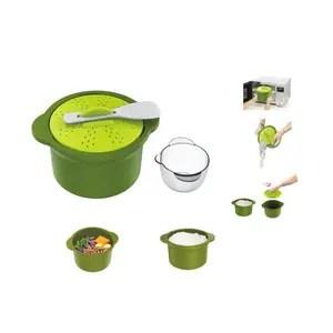 kitchen bpa free microwave steamer cooker kit food microwave steamer bowl