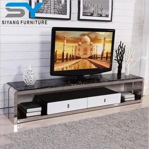de television design moderne table de travail en acier inoxydable table ds003