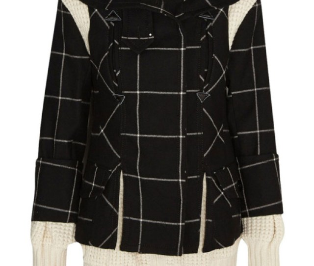 Sacai Three Piece Wool Coat
