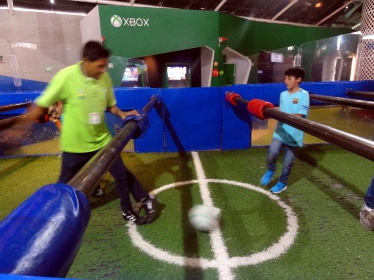 サッカーワールドの模擬テーブル・サッカー