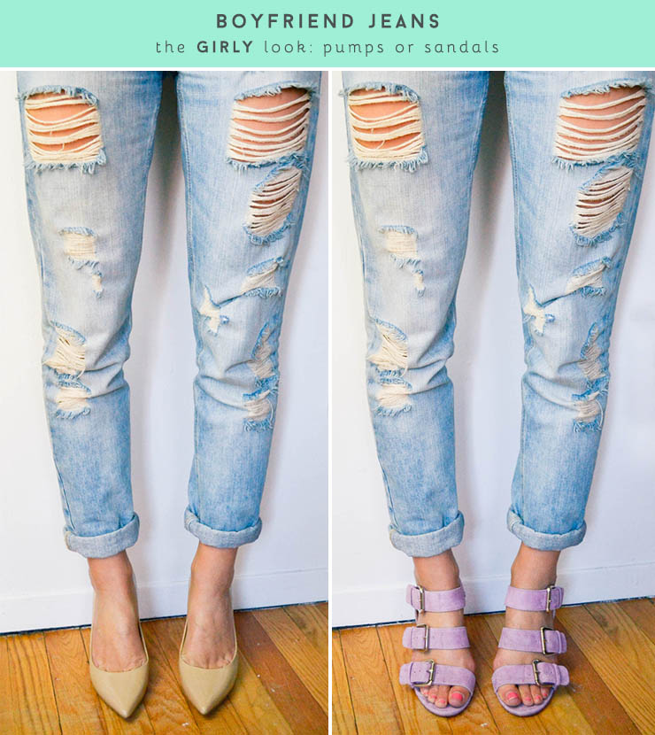 Boyfriend Shoes Winter Jeans Time