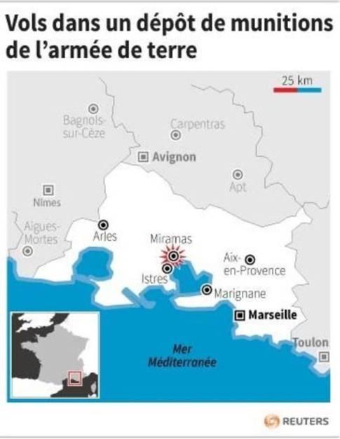 VOLS DANS UN DÉPÔT DE MUNITIONS DE L'ARMÉE DE TERRE