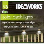 Ideaworks Set Of 3 Solar Deck Lights Brown White Catch Com Au
