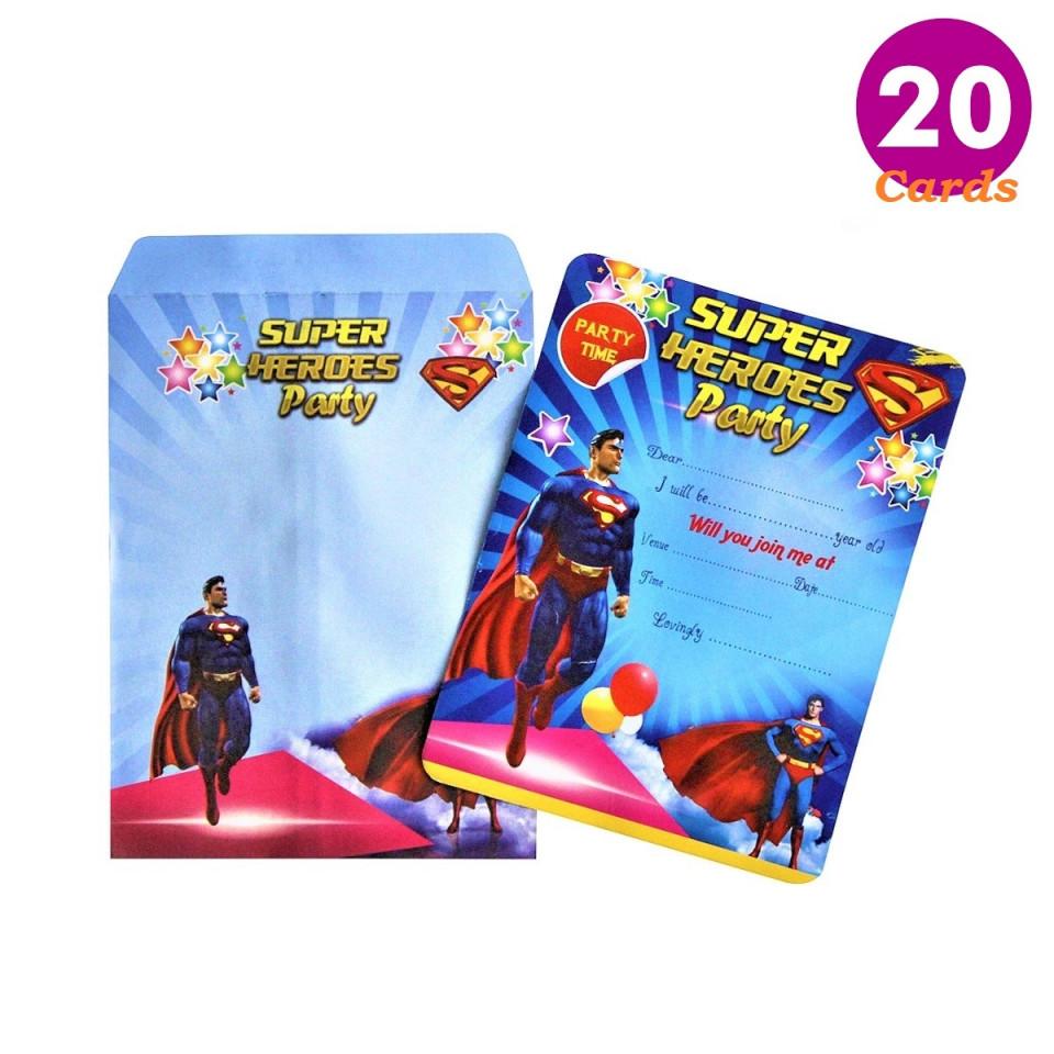 https www almodacreations com buy almoda creations superman themed birthday 20 invitation cards with 394