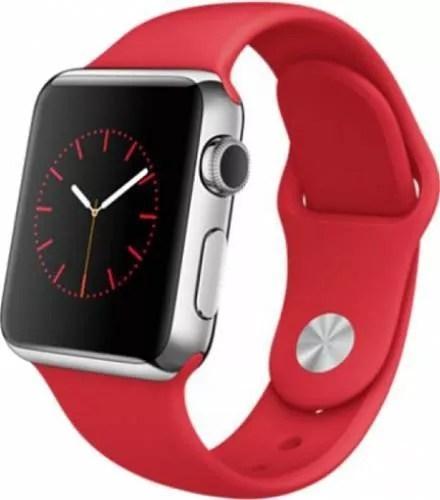 Apple Watch 38mm Carcasa Otel Argintiu Curea Sport Rosie MLLD2 119682
