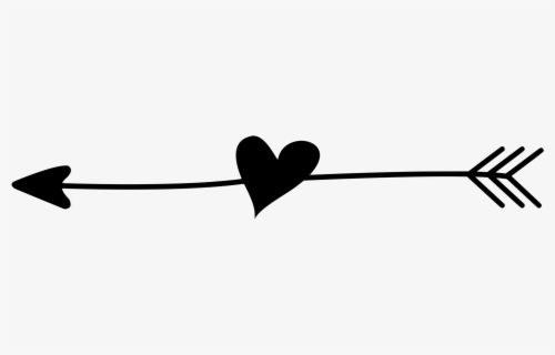 Download Clip Art Black And White Transparent - Heart With Arrow ...