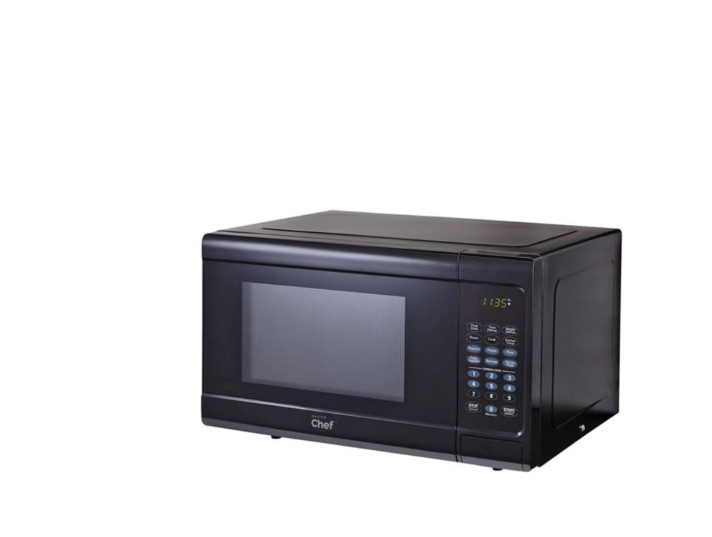 master chef 0 9 cu ft microwave master chef black delivery cornershop by uber canada