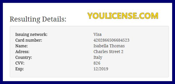 Visa 2019 And Cvv Number Card Credit