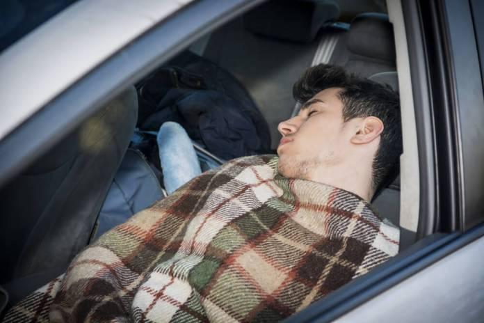 blanket in the car
