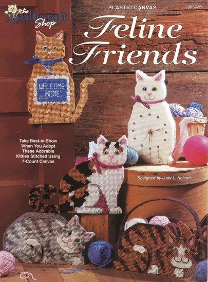 Feline Friends Cat Designs Plastic Canvas For Home