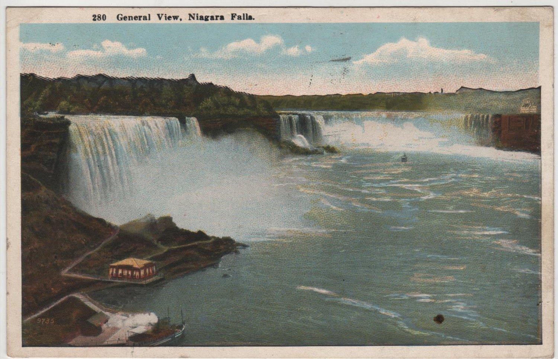 Niagara Falls New York Postcard General View Of The Falls Full Color C