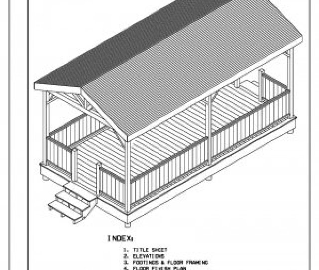 Sided Rectangular Gazebo With Gable Roof Building Plans Blueprints  Do It Yourself Diy