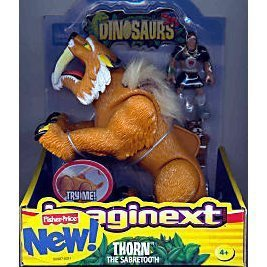 DINOSAURS IMAGINEXT THORN THE SABERTOOTH VHTF FISHER PRICE