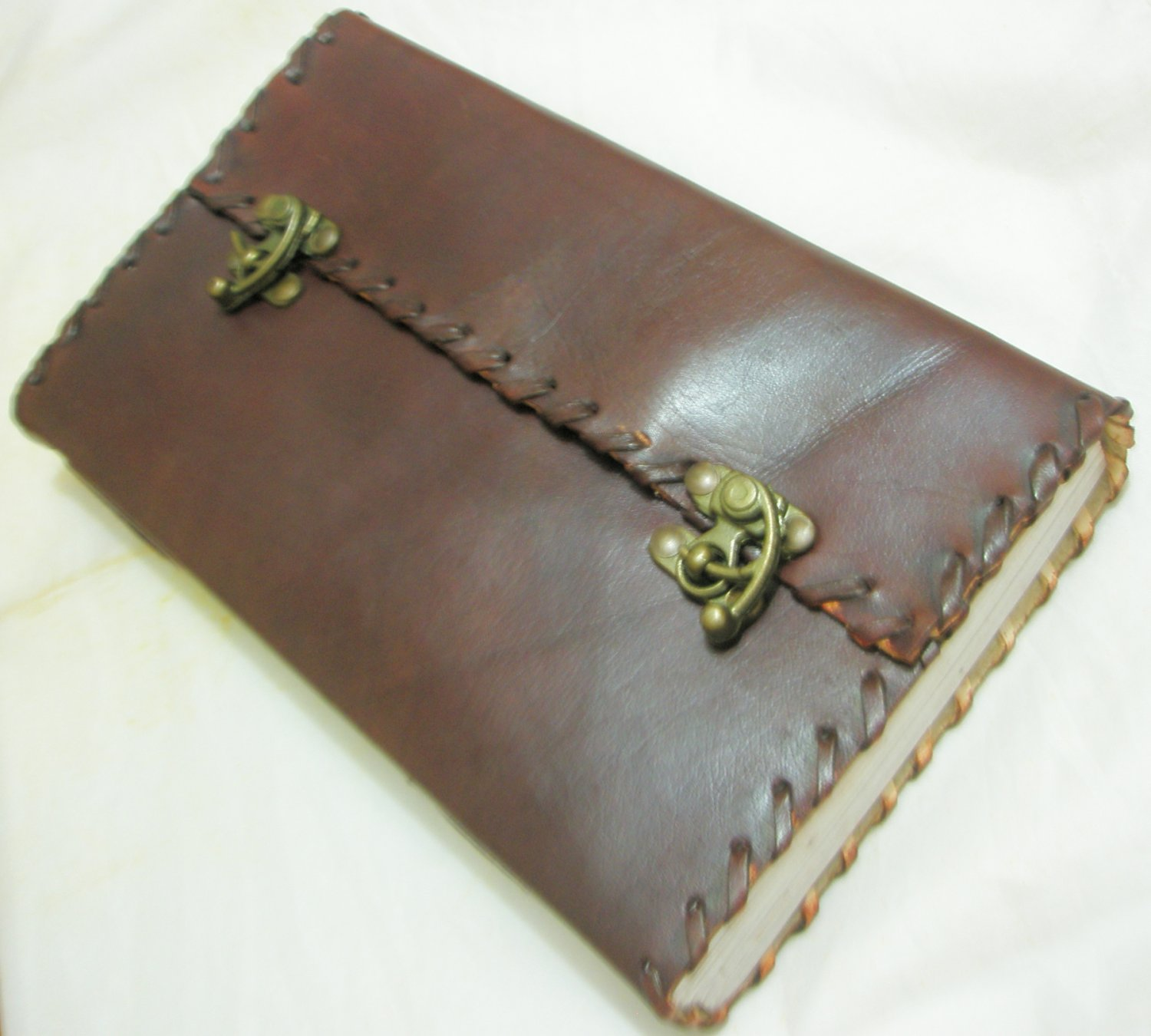 Handmade Paper Leather Journal Large Blank Diary Vintage