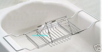 Large Bath Caddy With Reading Rack