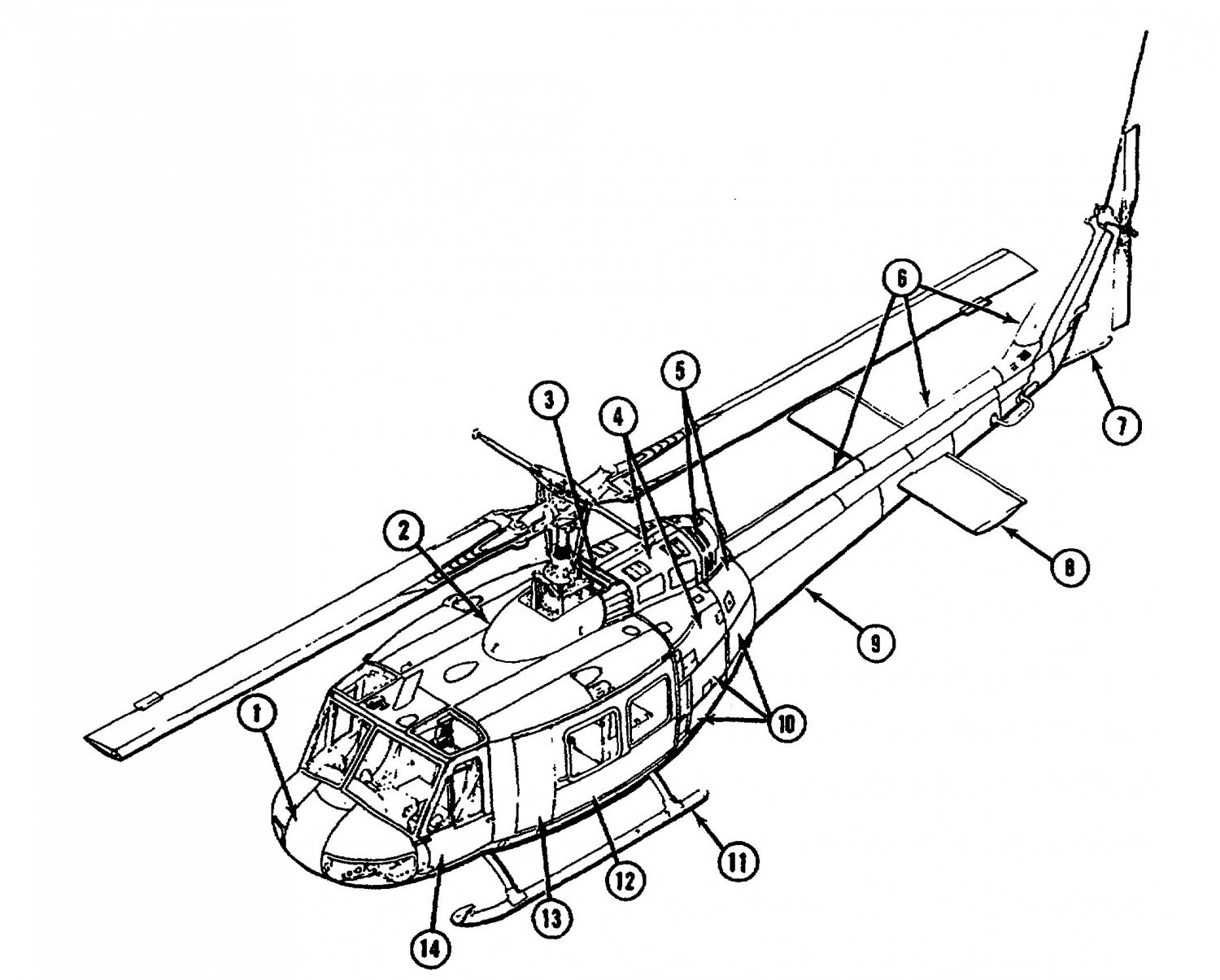 Uh 1 Huey Helicopter 77 Manual Cd Pages Iroquois Bell