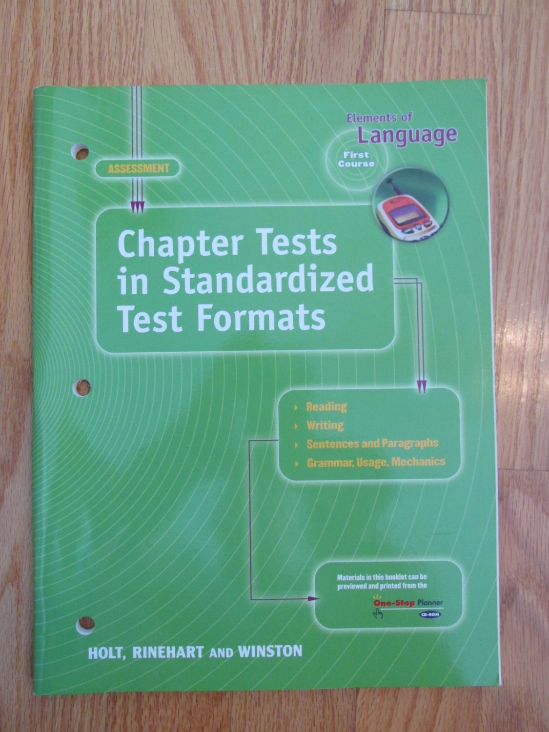 Elements Of Language First Course 7th Grade Chapter Tests Holt Isbn 0 03 9 New