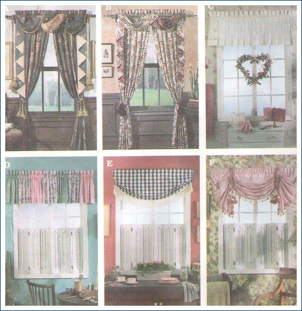 Simplicity Sewing Pattern Curtains Window Treatments