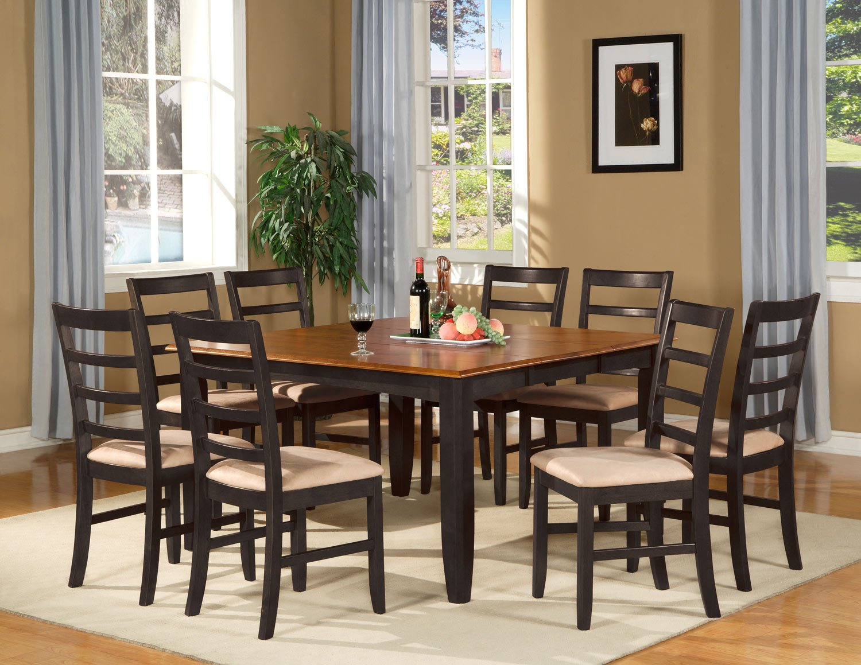 Parfait 9 Pc Square Gathering Dining Table Set 54x54